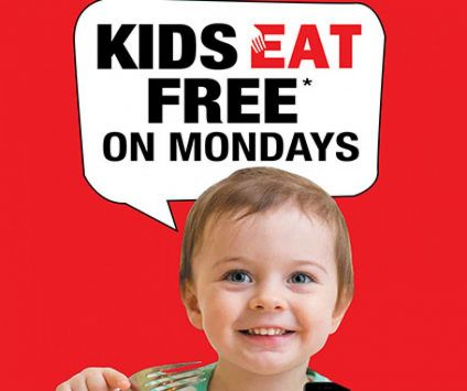 6. Kids EAT free on Mondays