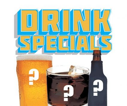 5. Monthly drink specials
